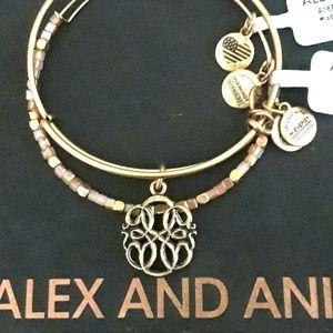 "ALEX AND ANI ""PATH OF LIFE IV"" TWIN SET GOLD NWT"